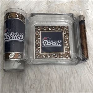New England Patriots ashtray set
